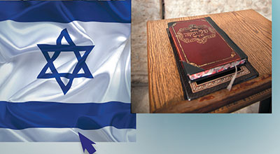 Israel flag and Bible