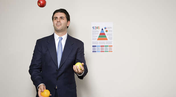 Juggling in a suit