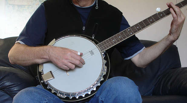 Apparently, not many people like the banjo as a worship service instrument.