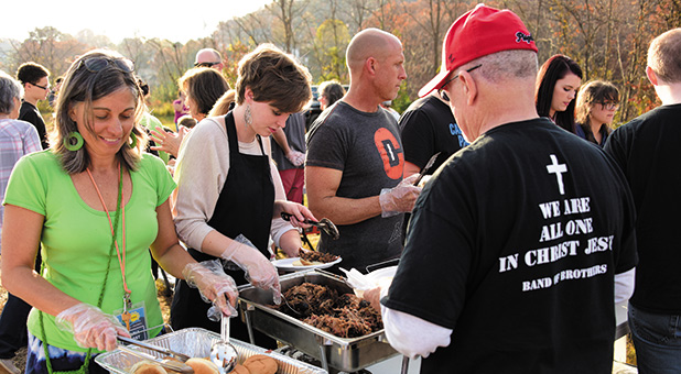 New Covenant Church in Clyde, North Carolina, celebrated its 40th birthday last November with a free barbecue dinner and festival, feeding more than 1,000 people from the community.